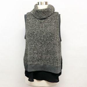 anthropologie   moth layered sleeveless sweater L